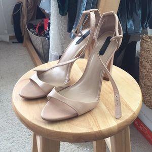 Zara Nude Heeled Sandal
